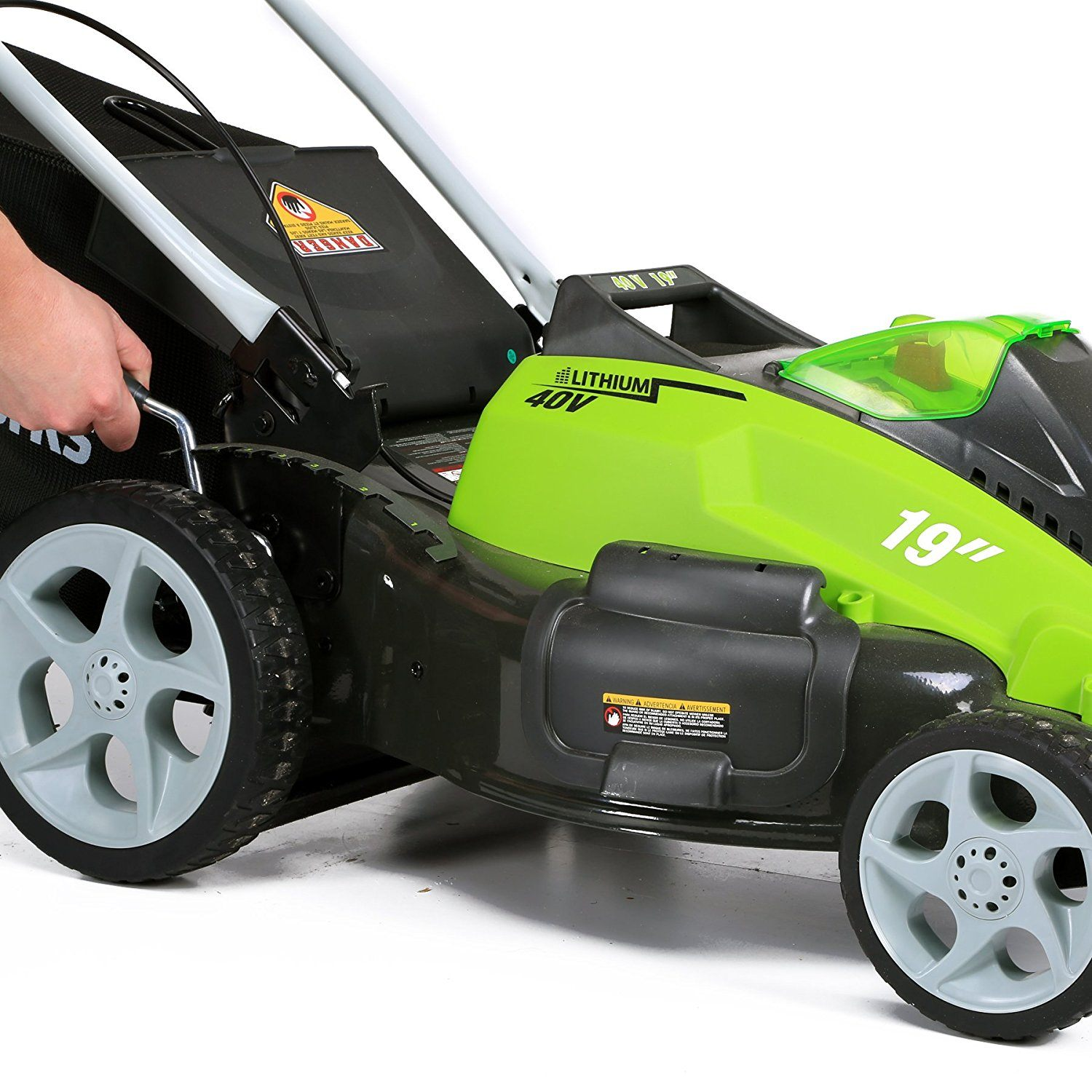 GreenWorks lawn mower G-MAX 40V height adjustment
