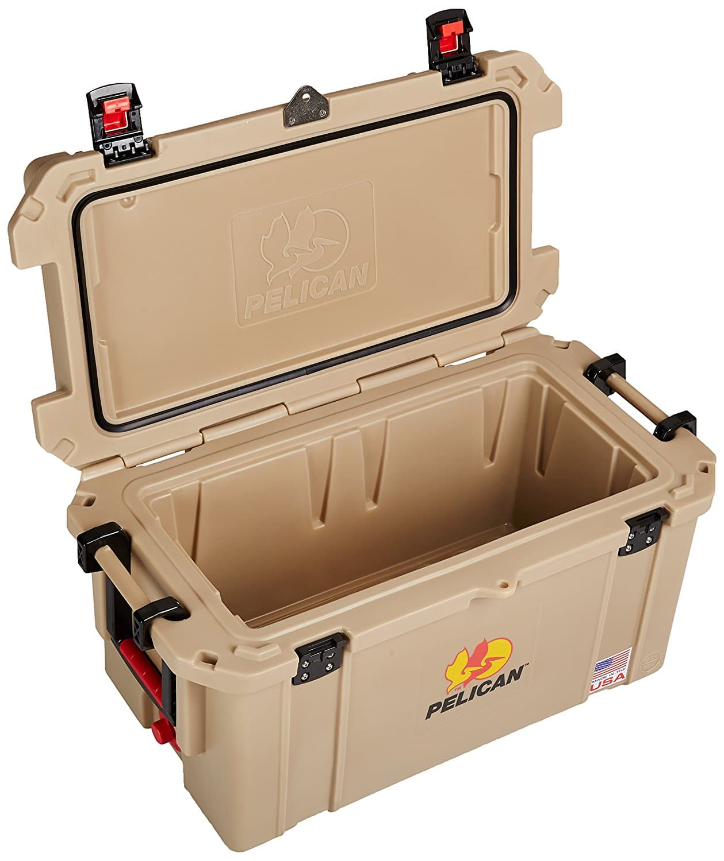 Pelican Products ProGear Elite Cooler, 45 quart open