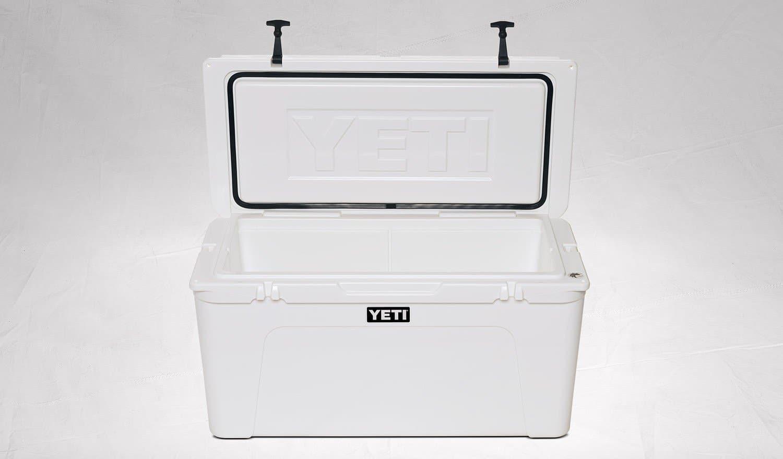 YETI Tundra 110 Cooler White open