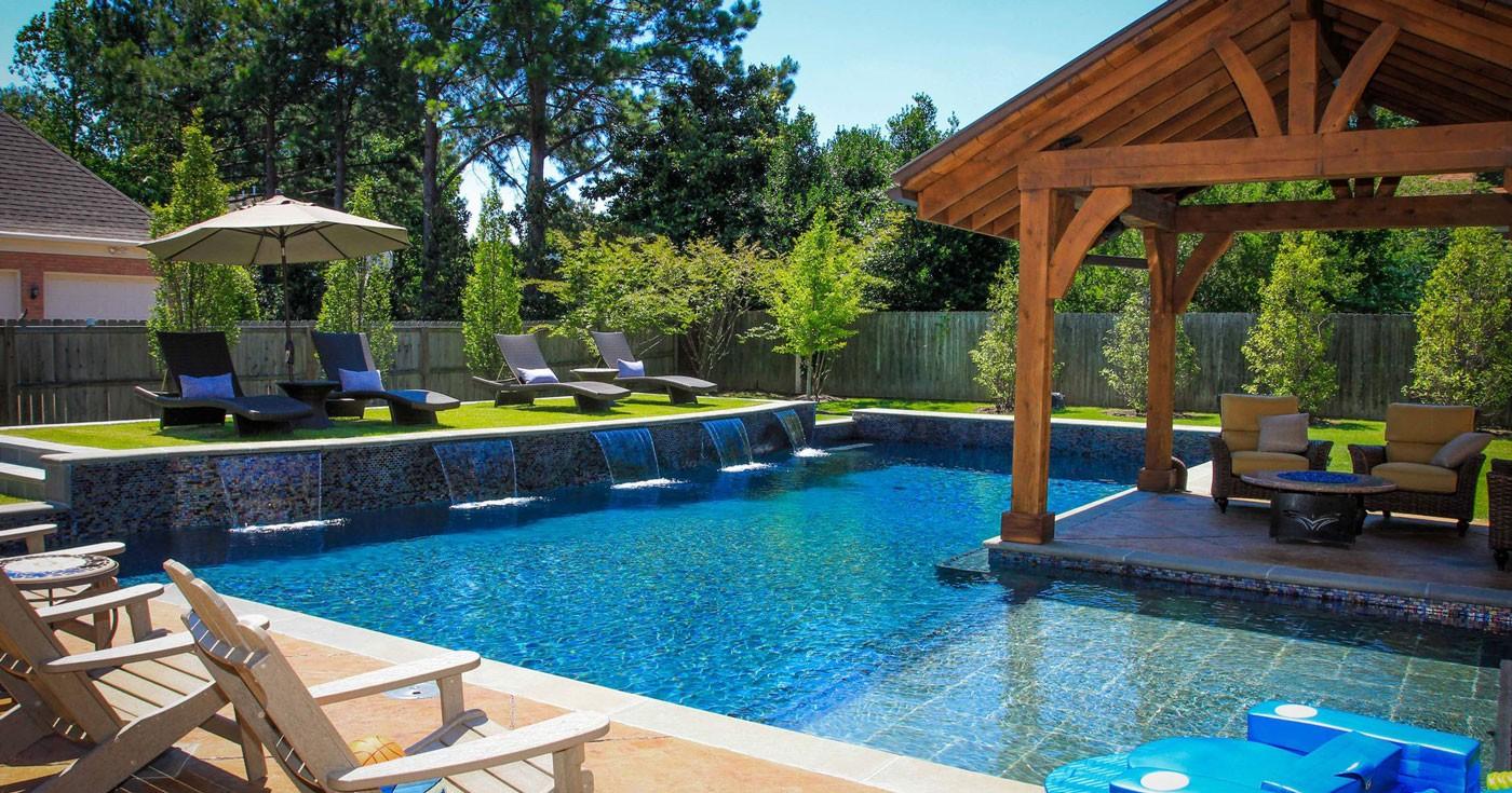 beautiful backyard pool area