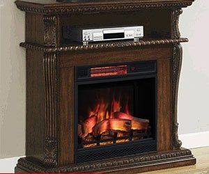 Classicflame Corinth Electric Fireplace Insert & Home Theater Mantel