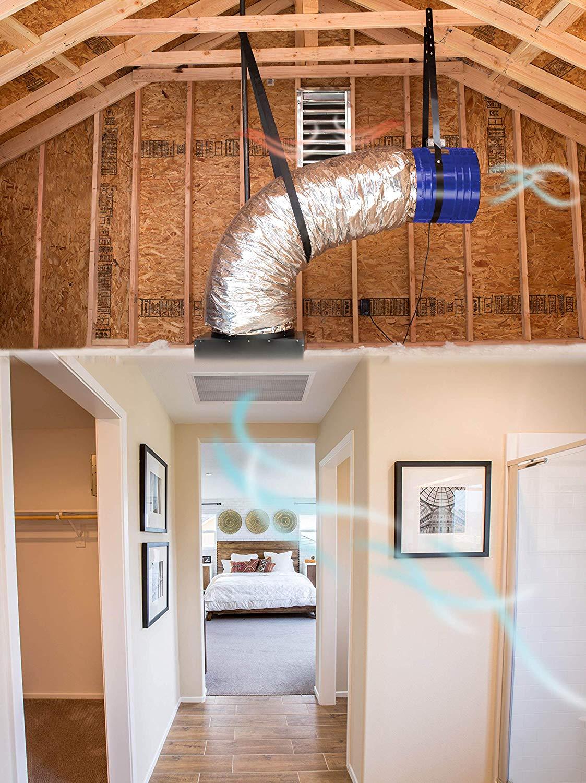 quiet cool whole home fan system setup