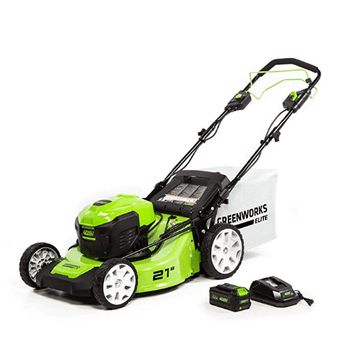 Greenworks 21-Inch 40V Brushless Self-Propelled Mower 6AH Battery and Charger Included, M-[...]