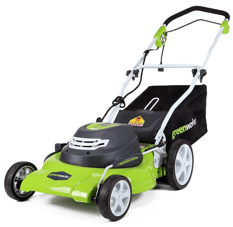 GreenWorks 20-Inch 12 Amp Corded Electric Lawn Mower 25022 Walk Behind Lawn Mowers Garden [...]