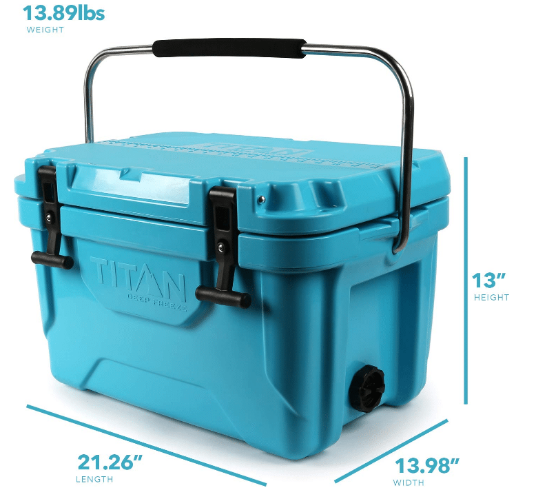 Arctic Zone Titan Deep Freeze 20Q Premium Ice Chest Roto Cooler with Microban Protection, [...]