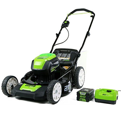 Greenworks PRO 21-Inch 80V Cordless battery Lawn Mower,