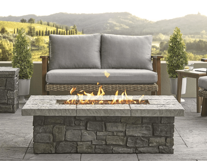 Real Flame C11812LP Sedona 52-Inch Rectangle LP Fire Table
